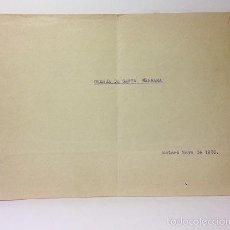 Manuscritos antiguos: MANUSCRITO MATARÓ. GRANJA DE SANTA BÁRBARA. (MAYO 1930). HISTORIA, CUARTEL EJERCITO MATARÓ . Lote 57260845