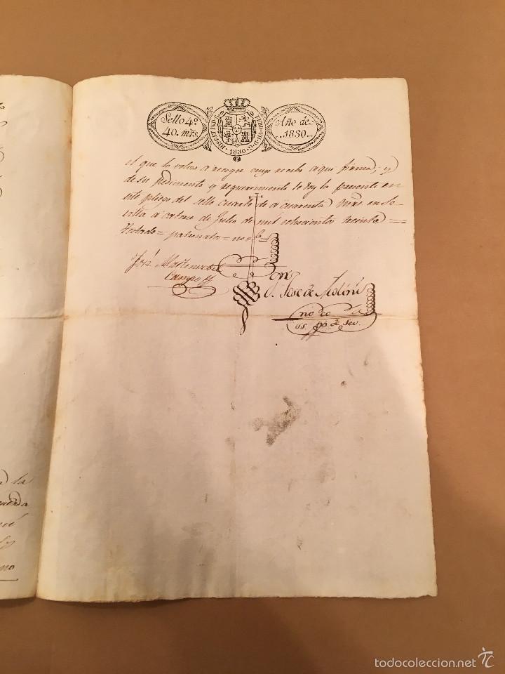 Manuscritos antiguos: SEVILLA - NOMBRAMIENTO PRESIDENTE PATRONATO REAL LEGOS - MARQUES DE ESPEJA -1830 - Foto 2 - 57429460
