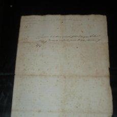 Manuscritos antiguos: VILAFRANCA DEL PENEDÈS 1845- DOCUMENTO MANUSCRITO . Lote 57525973