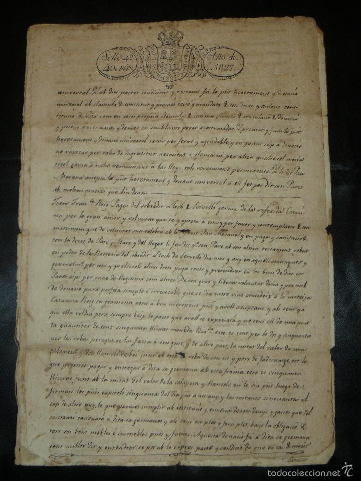 Manuscritos antiguos: MANUSCRITO 1827 / TESTAMENTO - Foto 1 - 57526604