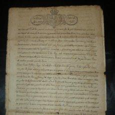 Manuscritos antiguos: MANUSCRITO 1827 / TESTAMENTO . Lote 57526604