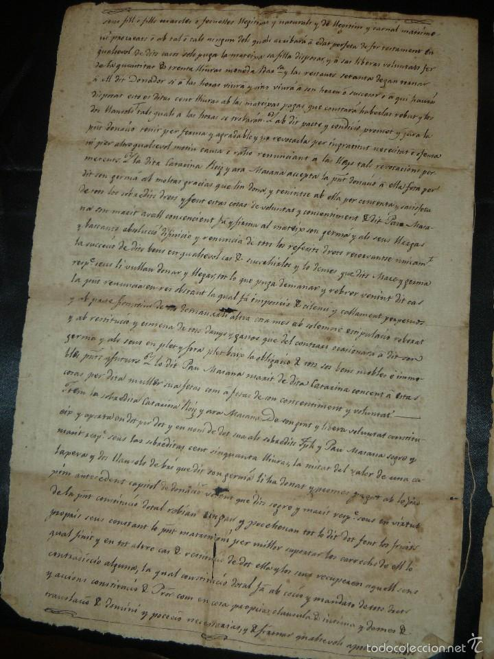 Manuscritos antiguos: MANUSCRITO 1827 / TESTAMENTO - Foto 2 - 57526604