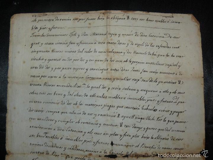 Manuscritos antiguos: MANUSCRITO 1827 / TESTAMENTO - Foto 3 - 57526604