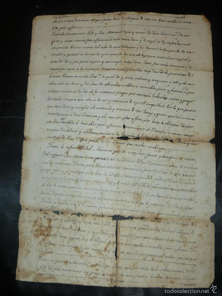 Manuscritos antiguos: MANUSCRITO 1827 / TESTAMENTO - Foto 11 - 57526604