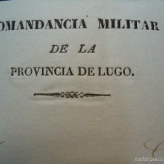Manuscritos antiguos: 1836 SOLICITUD DE FUERZAS ARMADAS PARA DETENER A LA MADRE DEL FACCIOSO PEDRO VERELA LUGO GALICIA. Lote 57617938