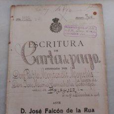 Manuscritos antiguos: ESCRITURA CARTA PAGO PABLO MONTARDIT MONCLÚS FAVOR JOSÉ MARIA COMABELLA GARRIGA BALAGUER 1924. Lote 57635010