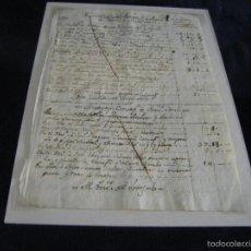 Manuscritos antiguos: MANUSCRITO ENCARGO IGNACIO VERGARA Y JOSE VERGARA VALENCIA 1750 TAVERNES BLANQUES INMACULADA. Lote 57644453