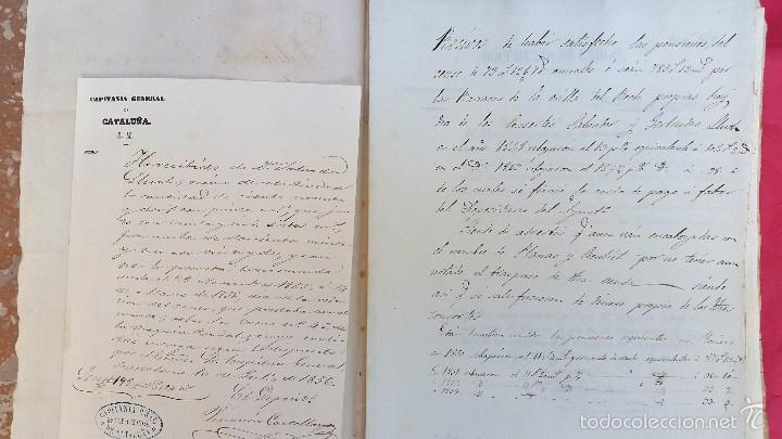 BARRACAS - RECH CONDAL - 1856 - DOCUMENTOS Y CONTRIBUCIONES - 17 DOCUMENTOS (Coleccionismo - Documentos - Manuscritos)