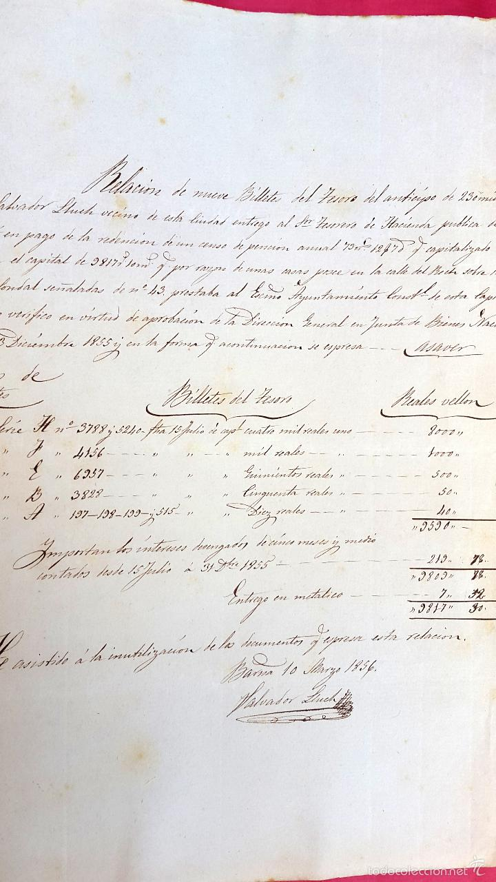 Manuscritos antiguos: BARRACAS - RECH CONDAL - 1856 - DOCUMENTOS Y CONTRIBUCIONES - 17 DOCUMENTOS - Foto 6 - 57675744