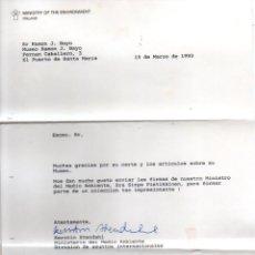 Manuscritos antiguos: SIGNED,AUTOGRAPH,FIRMA,CARTA FIRMADA POR KERSTIN STHEDAHL. VER GOOGLE.. Lote 57720097