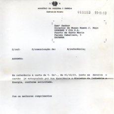 Manuscritos antiguos: SIGNED,AUTOGRAPH,FIRMA,CARTA FIRMADA POR PEDRO HOMEM E SOUSA. VER GOOGLE.. Lote 57729204