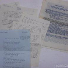 Manuscritos antiguos: GIBRALTAR: MANUSCRITO VICTOR DE LA SERNA (HIJO CONCHA ESPINA), BORRADORES Y NOTAS OCTUBRE 1958. Lote 57761924