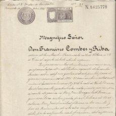 Manuscritos antiguos: DOCUMENTO 1896 SANT MARTI DELS PROVENÇALS VER FOTO. Lote 57865980