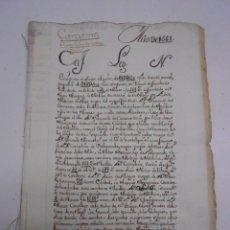 Manuscritos antiguos: MANUSCRITO S. XVI. CARTAS DE PAGO. VARIOS ESCRITOS CON DISTINTO TIPO DE LETRA AÑO 1581. 28 FOLIOS. Lote 57950497