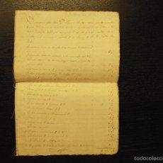 Manuscritos antiguos: JUSTIPRECIO DE LA LIBRERÍA DE D. JOSÉ MIGUEL TRIAS POR DON JAYME RULLAN1839. Lote 57974623
