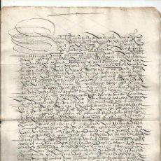 Manuscritos antiguos: 1554 - POZA DE LA SAL BURGOS - VENTA DE UN LINAR - PEDRO DÍAZ A DIEGO GARCÍA DEL AMO. Lote 57982599