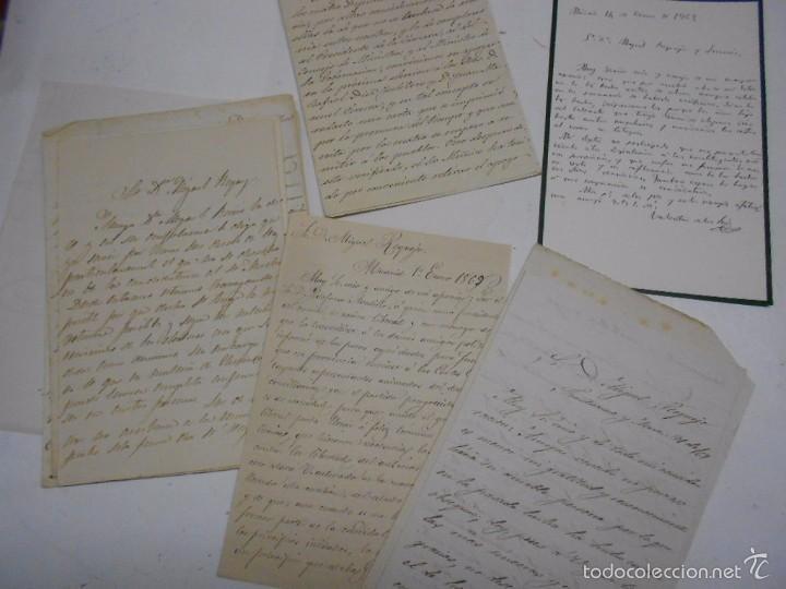 MANUSCRITO: CARTAS DE CONTENIDO POLITICO. ZAMORA 1869. SENADORES Y DIPUTADOS (Coleccionismo - Documentos - Manuscritos)