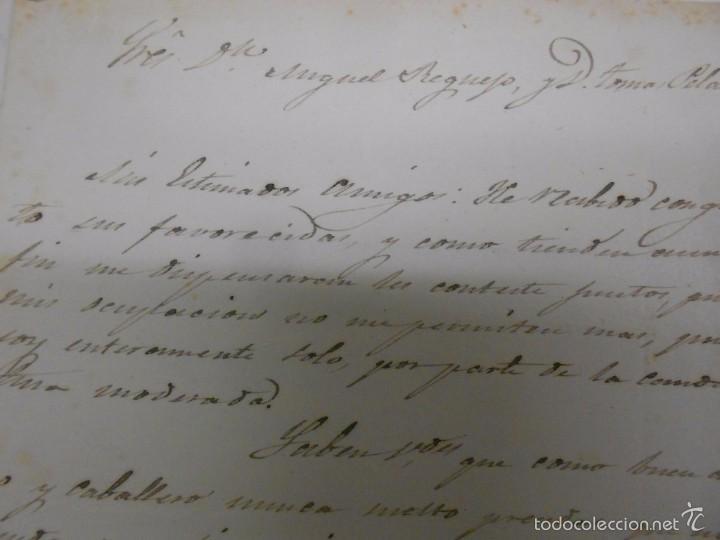 Manuscritos antiguos: MANUSCRITO: CARTAS DE CONTENIDO POLITICO. ZAMORA 1869. SENADORES Y DIPUTADOS - Foto 6 - 57995547