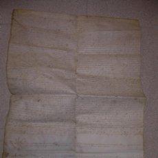 Manuscritos antiguos: ANTIGUA ESCRITURA DE PERGAMINO.....GRANDES DIMENSIONES.. Lote 58208720