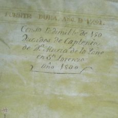 Manuscritos antiguos: BURGOS. DOCUMENTOS MANUSCRITOS S.XVIII-XIX.. Lote 53892577