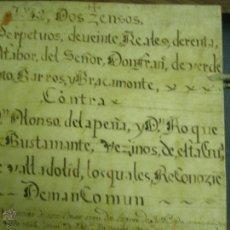 Manuscritos antiguos: 1665-1696. LOTE DE TRES DOCUMENTOS MANUSCRITOS DEL MAYORAZGO DE VERDESOTO. Lote 53960915