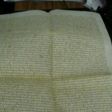 Manuscritos antiguos: 1415. DOCUMENTO MANUSCRITO SOBRE VITELA DE GRAN TAMAÑO.. Lote 53961196