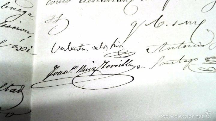 Manuscritos antiguos: MANUSCRITO: CARTAS DE CONTENIDO POLITICO. ZAMORA 1869. SENADORES Y DIPUTADOS - Foto 7 - 57995547