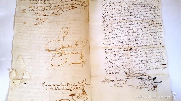 MANUSCRITO CORTEGANA POSESION DADA A F. J. ESPINOSA DE LOS MONTEROS DE LA Cª FUNDO PEREZ BOZA. 1751 (Coleccionismo - Documentos - Manuscritos)