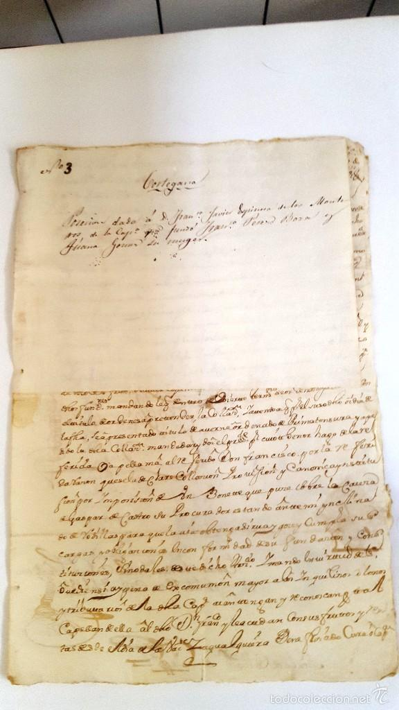 Manuscritos antiguos: MANUSCRITO CORTEGANA POSESION DADA A F. J. ESPINOSA DE LOS MONTEROS DE LA Cª FUNDO PEREZ BOZA. 1751 - Foto 2 - 58322131