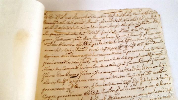 Manuscritos antiguos: MANUSCRITO CORTEGANA POSESION DADA A F. J. ESPINOSA DE LOS MONTEROS DE LA Cª FUNDO PEREZ BOZA. 1751 - Foto 3 - 58322131