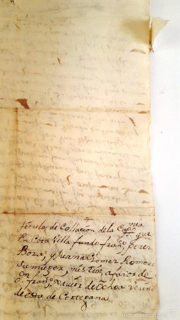 Manuscritos antiguos: MANUSCRITO CORTEGANA POSESION DADA A F. J. ESPINOSA DE LOS MONTEROS DE LA Cª FUNDO PEREZ BOZA. 1751 - Foto 5 - 58322131