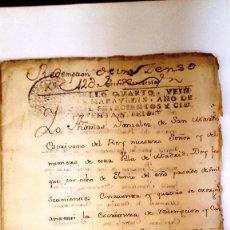 Manuscritos antiguos: MANUSCRITO MADRID 1756, REDENCION DE CENSO CASAS EN CARRETAS, HORTALEZA Y SAN ANTON. 12 FOLIOS. Lote 58322999