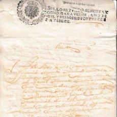 Manoscritti antichi: 1677 ALFARO (LA RIOJA). FISCAL SELLO 2º 68 MARAVEDIS. DOCUMENTO MANUSCRITOPAPEL SELLADO TIMBROLOGIA. Lote 58432486