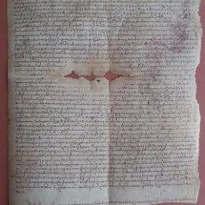 Manuscritos antiguos: PERGAMINO PALMA DE MALLORCA * AÑO 1568 * VENTAS ENTRE MEDICO Y FARMACEUTICO * PARROQUIA DE MANECOR. Lote 58634199