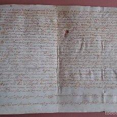 Manuscritos antiguos: PERGAMINO PALMA DE MALLORCA * VILLA DE CAMPANET * AÑO 1568 * MANUSCRITO SOBRE PIEL. Lote 58634248