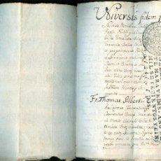 Manuscritos antiguos: NUMULITE A30109 DOCUMENTO ANTIGUO MANUSCRITO PALOL D'ONYAR ONYAR GERONA GIRONA 5 PÁGINAS MANUSCRITAS. Lote 58843321