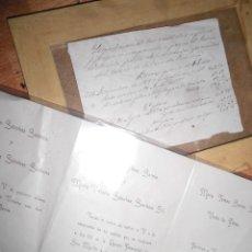 Manuscritos antiguos: DOCUMENTOS MANUSCRITO 1890 Y CASAMIENTO BODA MADRID 1910 FAMILIA GIL. Lote 59096320