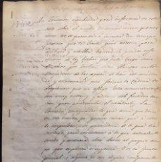 Manuscritos antiguos: ORIHUELA. ESCASEZ DE AGUAS REGANTES. MANUSCRITO. 1842. Lote 59766764