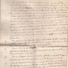 Manuscritos antiguos: ESCRITURA - RECIBO COMPRA FINCA - TIERRAS VILLA DE ECHARRI - ARANZ FECHADA EN 1866. Lote 59939459