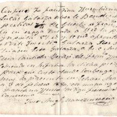 Manuscritos antiguos: ESCRITURA - RECIBO COMPRA FINCA - TIERRAS VILLA DE ECHARRI - ARANZ FECHADA EN 1880. Lote 59939807