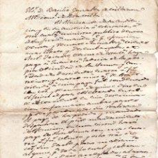 Manuscritos antiguos: CONDENAN - POR EMBARGO - VENTA DE BIENES - ECHARRI - ARANZ - FECHADO EN 1845. Lote 59940507