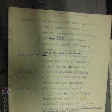 Manuscritos antiguos: LIBRO MANUSCRITO ALICANTE PREGON FOGUERES HOGUERAS MANUSCRITO Y MECANOSCRITO ORIGINAL 1960 R. SIERRA. Lote 38909711