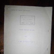 Manuscritos antiguos: MANUSCRITO DE ALICANTE AL CIELO ORIGINAL LIBRO DE RAFAEL SIERRA COSTA 1957. Lote 38909792