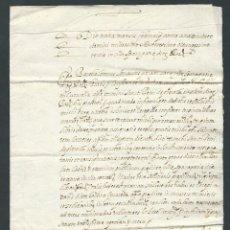 Manuscritos antiguos: CARTA MANUSCRITA AÑO 1683 EN ESPARRAGUERA EN LATIN FIRMADA. Lote 117281058