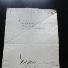 Manuscritos antiguos: MANUSCRITO DOCUMENTO NOTARIAL AÑO 1843 IGUALADA FIRMADO. Lote 60834995