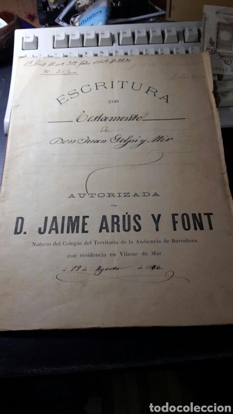 ANTIGUO DOCUMENTO 1892 MANUSCRITO ESCRITURA DE TESTAMENTO 7 HOJAS TOTAL (Coleccionismo - Documentos - Manuscritos)