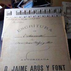 Manuscritos antiguos: ANTIGUO DOCUMENTO 1892 MANUSCRITO ESCRITURA DE TESTAMENTO 7 HOJAS TOTAL. Lote 61714616