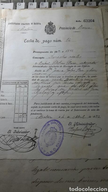 Manuscritos antiguos: Antiguo documento 1892 manuscrito escritura de testamento 7 hojas total - Foto 2 - 61714616
