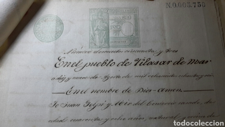Manuscritos antiguos: Antiguo documento 1892 manuscrito escritura de testamento 7 hojas total - Foto 3 - 61714616