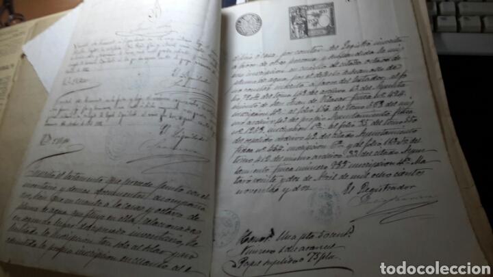 Manuscritos antiguos: Antiguo documento 1892 manuscrito escritura de testamento 7 hojas total - Foto 4 - 61714616